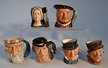 Six Royal Doulton character jugs, to include Henr
