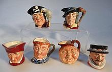 Six various Royal Doulton character jugs, to incl