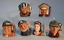 Six Royal Doulton character jugs, to include The