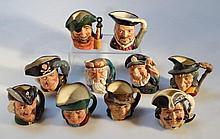 Ten various Royal Doulton character jugs, to incl