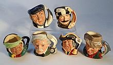 Six Royal Doulton character jugs, to include Town