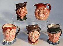 Five Royal Doulton character jugs, to include Fat