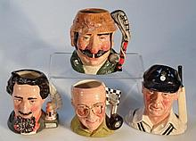 Four Royal Doulton character jugs, comprising Mur