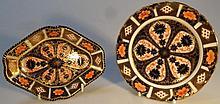 A Royal Crown Derby Imari pattern pin dish, the l