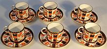 A Royal Crown Derby part coffee service, decorate