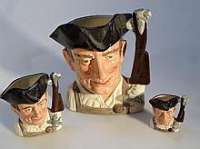 Three Royal Doulton character jugs, comprising fr