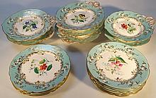 A 19thC porcelain dessert service, comprising fou