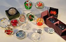 Various paperweights, to include Hafod Grange clo