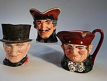 Three Royal Doulton character jugs, comprising Di