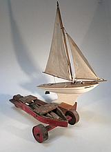 An early 20thC Star pond yacht Endeavour IV, wit