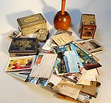 Various postcards ephemera and collectables, to i