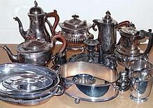 Various silver plate, to include teaware, Queen A