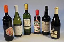 Various red wine and alcohol, to include Crusted