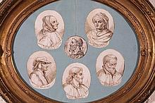 19thC School. Religious figures after the classic
