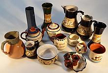 Various Langley Mill Slater's patent pottery, to