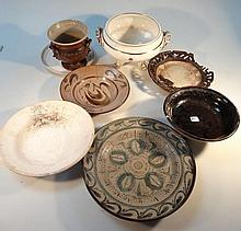 Various studio and other pottery, to include vase