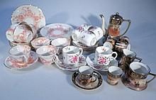 Various part tea services, to include Royal Crown