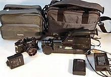 Various cameras and equipment, to include a Chino