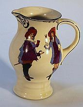 A Royal Doulton cavalier jug, the circular waiste