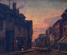 Edward King (1863-?). St Albans Drover and sheep i