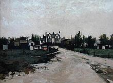 Peter Brannan (1926-1994). Holiday Camp, oil on bo