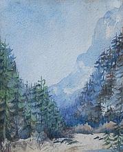 Heinrich Johann Von Zugel (1850-1941). Mountain la