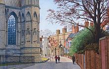 Jack Blyth (20thC). Exchequer Gate from Minster Ya
