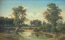 Anton Pick (1840-c.1905). River landscapes, oil on