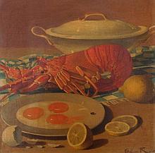 Vittorini Rossi (19th/20thC). Still life - lobster