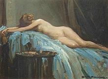 Allan Douglas Davidson (1873-1932). Nude study, oi