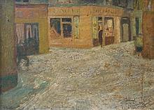 Farley (20thC). Street Scene, oil on board, signed