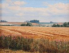 Malcolm Doughty (20thC). Harvest Time Ancaster, oi