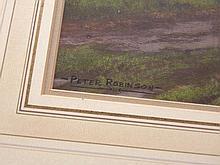 Peter Robinson (20thC). Country lane, watercolour,