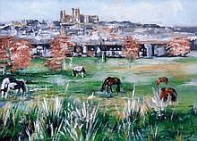 Katy Jade Dobson (20thC). Lincoln Landscape, oil o
