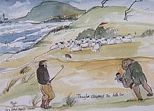 Mark Huskinson (b.1935). They've Claimed The Hole