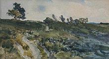 Thomas Collier (1840-1891). Landscape, watercolour