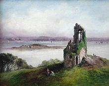 Sarah Louisa Kilpack (c.1840-1909). Ruin on Mount