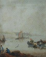 Samuel Owen (1768-1857). Coastal scene with fisher