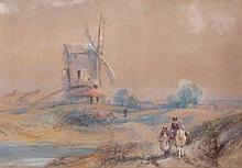 James Duffield Harding (1768-1863). Windmill in co