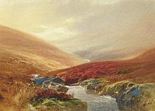 John Shapland (1865-1929). Exmoor scene, watercolo