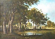 Ernest Guillemer (1839-1913). Woodland landscape f