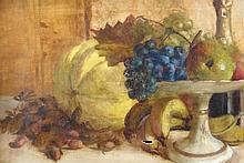19thC British School. Fruit still life, oil on can