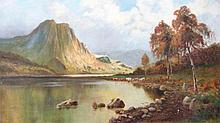 Daniel Sherrin (1868-1940). Highland Loch, oil on