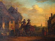 In the Manner of Philip Wouwerman. Figures on hors