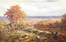 George William Mote (1832-1909). Rolling landscape