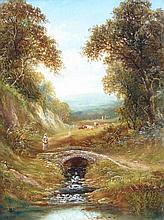 Henry Harris (1852-1926). Near Shaldon, oil on can