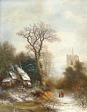 Charles Leaver (1824-1888). Northfield Church, oil