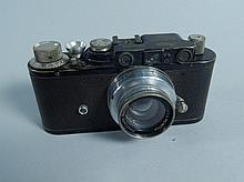 A Leica II camera, No. 99376 with 5cm lens, lens