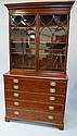 A George III mahogany crossbanded secretaire