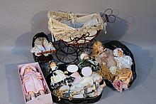 A quantity of Leonardo collection, and other dolls and accessories, each of modern construction, som